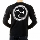 RMC JEANS Black crew neck long sleeve regular fit t-shirt