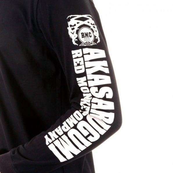 RMC JEANS Black crew neck long sleeve regular fit t-shirt