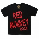 RMC JEANS Black Crew Neck Regular Fit Printed Rock Front T-Shirt