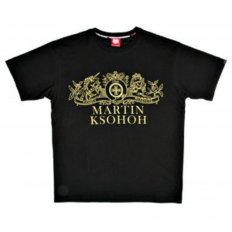 Black Crew Neck Regular Fit Short Sleeve T-Shirt with Printed Crest RMC Logo