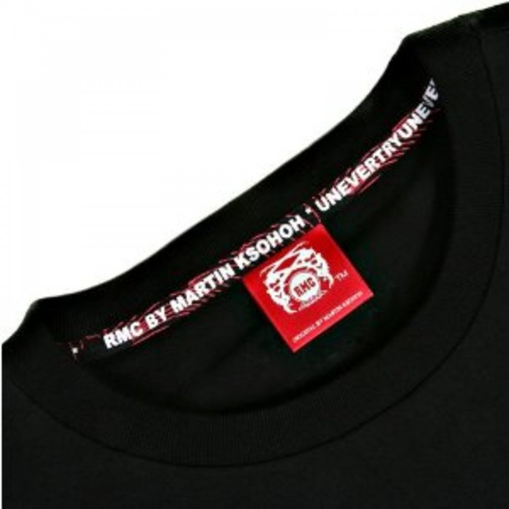 Black Crew Neck RMC T-Shirt with Amazing Design and enjoy wearing it