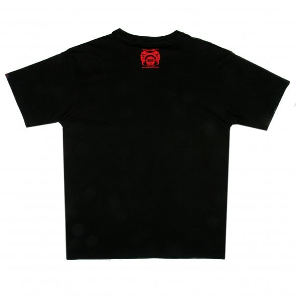 RMC JEANS Black Crew Neck Regular Fit Short Sleeve T-Shirt with Printed Enjoy RMC