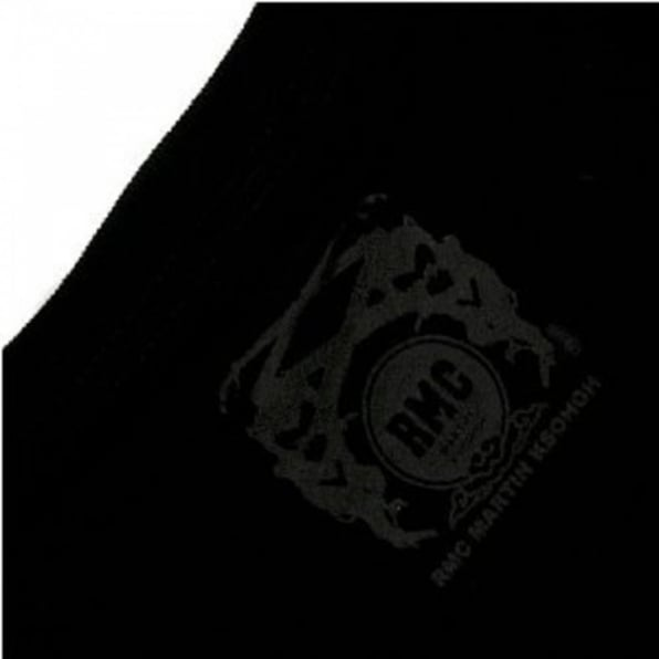 RMC JEANS Black Crew Neck Regular Fit T-Shirt with Black Logo Print