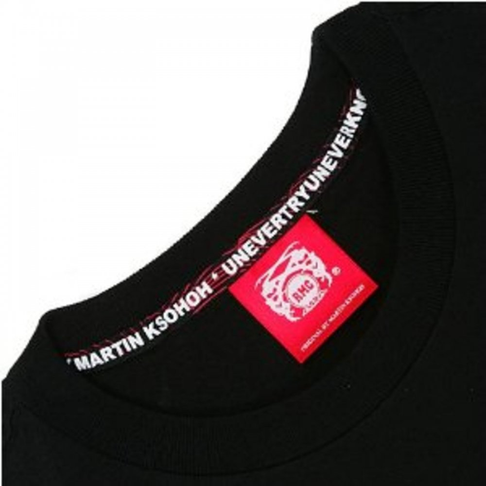 Best quality black t shirt -  Rmc Jeans Black Crew Neck Regular Fit T Shirt With Fuji Mountain Print