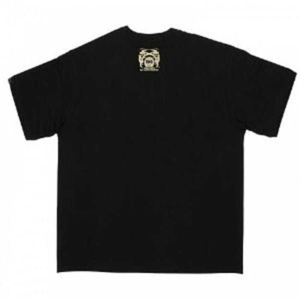 RMC JEANS Black Crew Neck Regular Fit T-Shirt with Oriental Lion Print