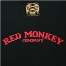 RMC JEANS Black Crew Neck Regular Fit T-Shirt with Printed Half Monkeys