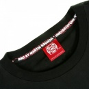 RMC JEANS Black Crew Neck Regular Fit T-Shirt with Purple Printed Logo