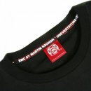 RMC JEANS Black Crew Neck Regular Fit T-Shirt with Red Printed Logo