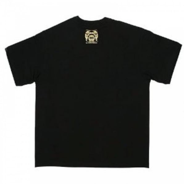 RMC JEANS Black Crew Neck Regular Fit T-Shirt with Samurai Monkey Print