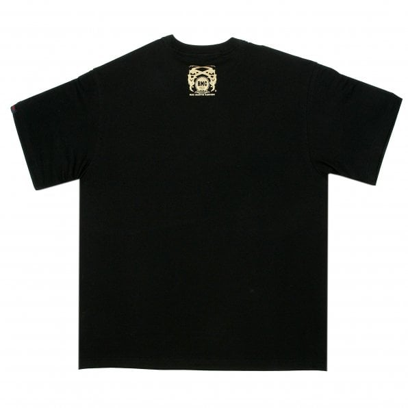 RMC JEANS Black Crew Neck Regular Fit T-Shirt with URLIFEORMYLIFE Print