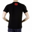 RMC JEANS Black Crew Neck Short Sleeve Regular Fit T-Shirt for Men