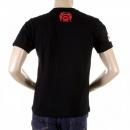 RMC JEANS Black Crew Neck Short Sleeve Regular Fit T-Shirt for Men