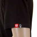 RMC JEANS Black Crew Neck Short Sleeve Regular Fit T-shirt with Red Skull and Crossbones Flock Print