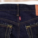 RMC JEANS Black Embroidered Indigo Raw Japanese Selvedge Denim Jeans