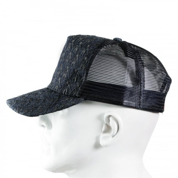 RMC JEANS Black Mesh with back embroidered cap for men