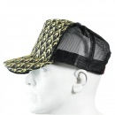 RMC JEANS Black Mesh with gold embroidered mens cap