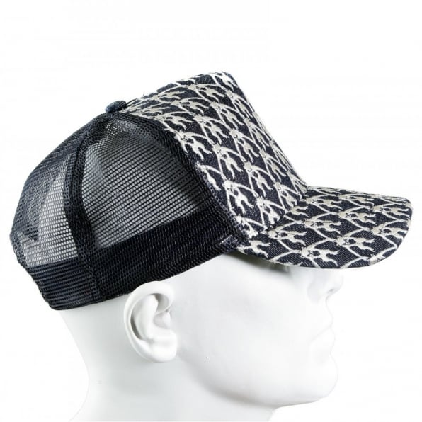 RMC JEANS Black Mesh with silver embroidered mens cap