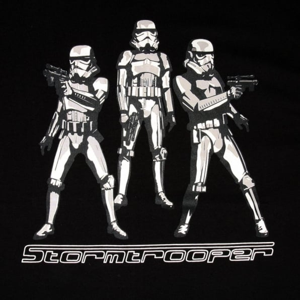 RMC JEANS Black Regular Fit Crew Neck Limited Edition Stormtroopers Star Wars T-Shirt