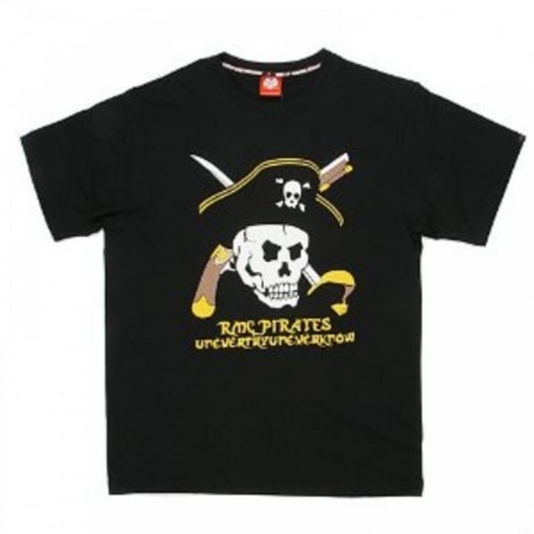 RMC JEANS Black Regular Fit Crew Neck Short Sleeve Pirates T-Shirt