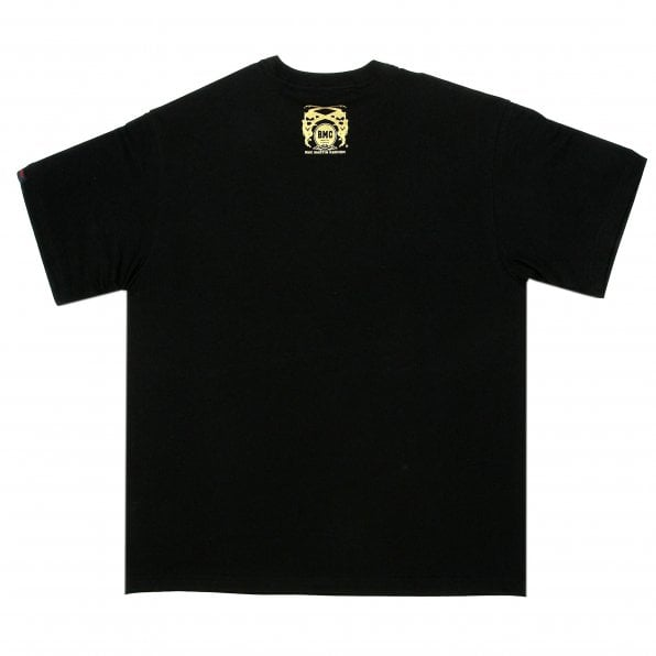 RMC JEANS Black Regular Fit Crew Neck Short Sleeve Pirates T-Shirt