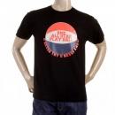 RMC JEANS Black Regular Fit Short Sleeve Crew Neck T-shirts for Men