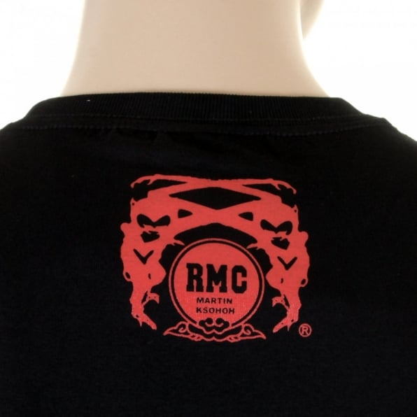 RMC JEANS Black Regular Fit Short Sleeve T-Shirt with Crew Neck