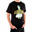 RMC JEANS Black short sleeve cotton t-shirt with SupeRMC print