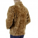 RMC JEANS Brown Regular Fit Faux Fur Jacket with High Collar