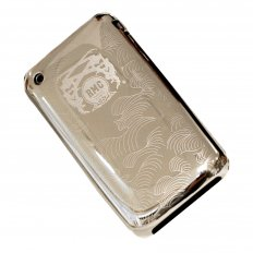 Buy Silver Covered Aluminium IPHONE 3 Case with Slider