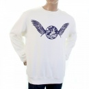 RMC JEANS Buy White Crew Neck Large Fitting Sweatshirt for Men