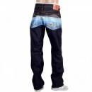 RMC JEANS Classic fit vintage cut dark indigo raw denim jeans