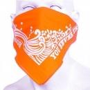 RMC JEANS Cotton Orange bandana with printed signature