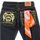 RMC JEANS Cotton Orange bandana with printed signature