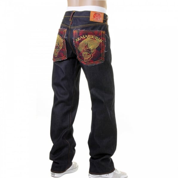RMC JEANS Cotton Vintage Cut House Selvedge Dark Indigo Raw Denim Jeans