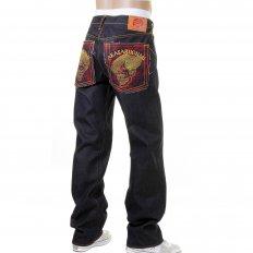 Cotton Vintage Cut House Selvedge Dark Indigo Raw Denim Jeans