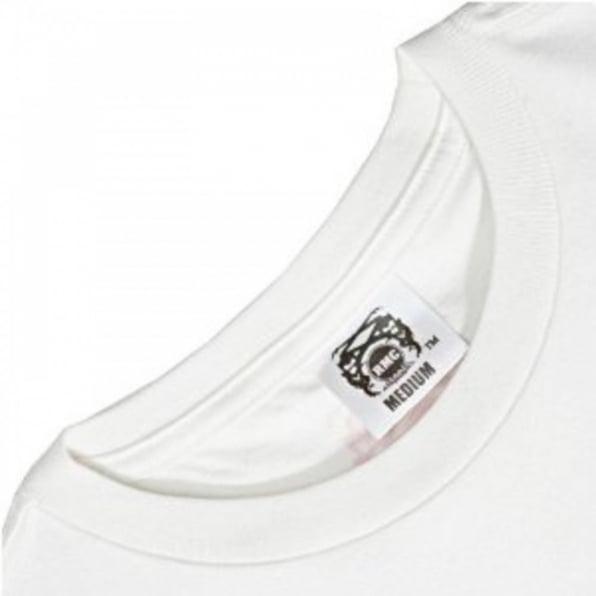 RMC JEANS Cotton White Crew Neck Short Sleeve Regular Fit T-Shirt
