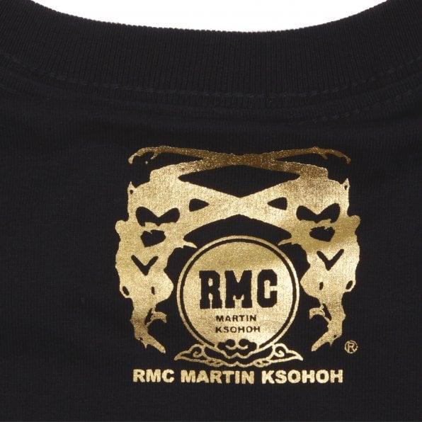 RMC JEANS Crew Neck Black WORLD DISTURBANCE T-shirt