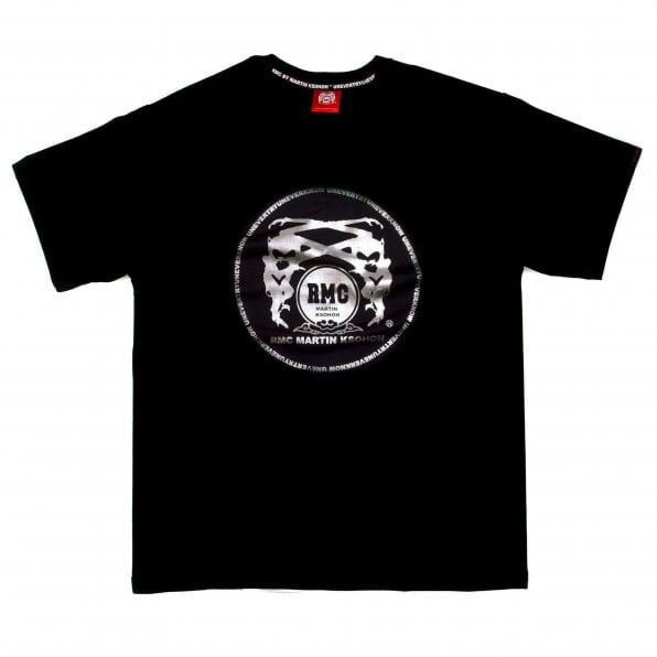 RMC JEANS Crew Neck Regular Fit T-Shirt with Printed Silver Logo