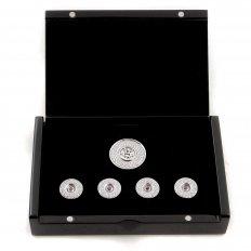 Custom Made Diamond and Ruby 5 Button Set