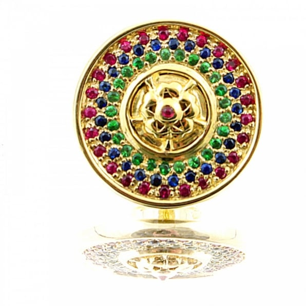 RMC JEANS Custom Made Green Garnet and Ruby 5 Button Set