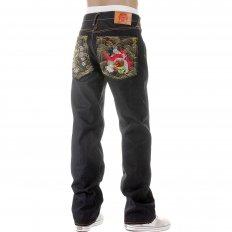 Dark Indigo Raw Denim Jeans for Men in 100% Cotton