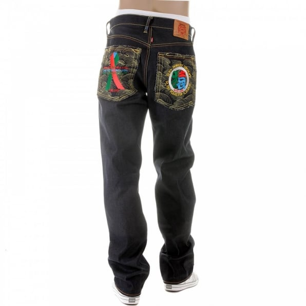 RMC JEANS Dark Indigo Raw Denim Jeans with Super Exclusive Design