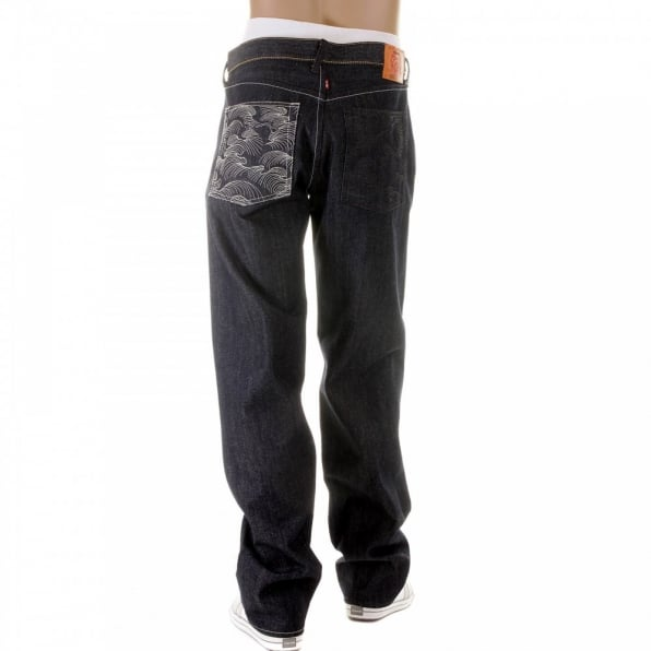 RMC JEANS Dark Indigo Raw Denim Jeans with Vintage Cut