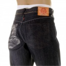 RMC JEANS Dark Indigo Raw Denim Jeans with Vintage Cut