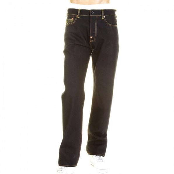 RMC JEANS Dark Indigo Selvedge Raw Denim Jeans with Slim Cut