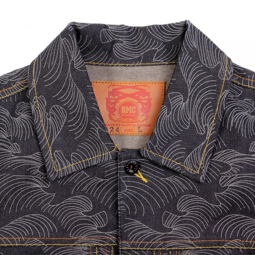 Shop For Mens Embroidered Denim Jacket From Red Monkey