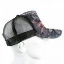 RMC JEANS Embroidered Tsunami Wave Black Mesh Back Cap