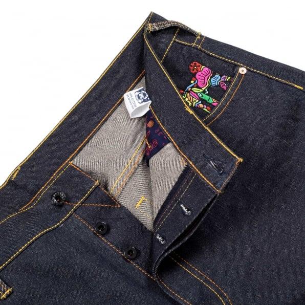 RMC JEANS Exclusive Monk Design Dark Indigo Raw Denim Jeans