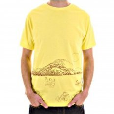 Exclusive Yellow Short Sleeve Crew Neck Cotton T-Shirt with Embroidered Toyo Story Porter Scene