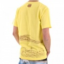 RMC JEANS Exclusive Yellow Short Sleeve Crew Neck Cotton T-Shirt with Embroidered Toyo Story Porter Scene